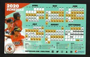 Indianapolis Indians--2020 Magnet Schedule--Pepsi--Pirates Affiliate