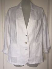 Gerry Weber White Linen Jacket, Blazer -  New With $210 Tags