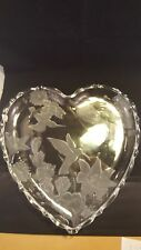 Heart Shaped Etched Glass Platter
