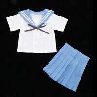 1/4 Student Uniform Outfit for BJD Dollfie MSD Dolls Clothes Accessory Blue