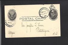 RIVERHEAD,NEW YORK 1907 GOVERNMENT POSTAL CARD, ADVT, SUFFOLK CO CLERKS OFFICE.