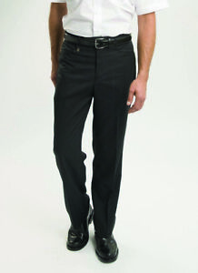 Mens Gents Classic Flat Front Half Lined Zip Fly and Button Fastening Trouser