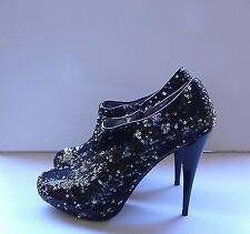 Express Sequin Booties Boots Shoes 7,5 NIB $140
