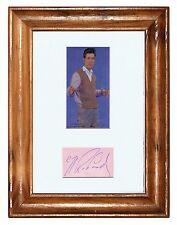 CLIFF RICHARD   ORIGINAL EARLY HAND SIGNED MOUNTED DISPLAY (250mm x 200mm)