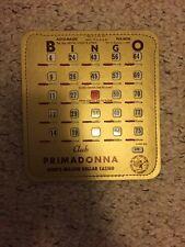 New Vintage Bingo Card Reno Nevada casino Primadonna Club
