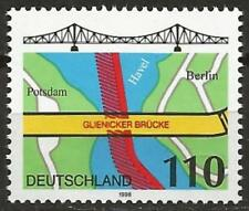 Germany 1998 MNH - Transport - Glienicke Bridge Potsdam Berlin (Map)