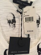 NWT $150 SKULL CASHMERE by 360 CASHMERE  Jak Cotton Tank Top M
