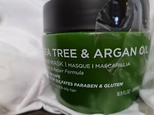 Luseta Tea Tree & Argan Oil Hair Mask 16.9 oz for Damaged & Oily Hair