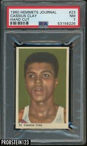 """1960 Hemmets Journal Boxing #23 Cassius Clay PSA 7 NM """" LOOKS NICER """""""