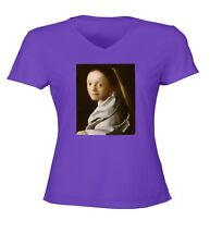 7f84799a0cd Johannes Vermeer Study of a Young Woman Women Junior Girl V-Neck Top Tee T
