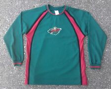 Minnesota Wild Jersey Style Shirt  Youth Boys 14/16 NHL Hockey Green Long Sleeve