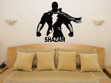 SHAZAM - Súper heroe CÓMIC INFANTIL ADHESIVO PARA DORMITORIO pared imagen