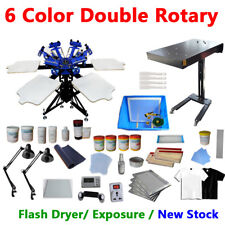 Screen Printing Press & Drying Kit Economy Machine 6 Color Printer Flash Dryer