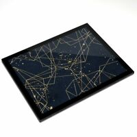 Glass Placemat 20x25 cm - Art Deco Abstract Pattern Vintage  #12319