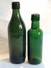 2 Antique Green Glass Ginger Beer Bottles Batey & Co Ltd London