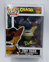 Signed Crash Bandicoot Tiny Tiger Funko Pop #533 Brendan O'Brien COA