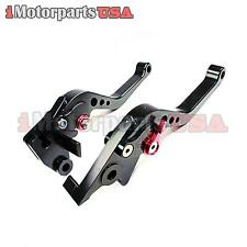 KAWASAKI NINJA 250R SHORTY BRAKE CLUTCH LEVERS SET ANODIZED BLACK CNC BILLET NEW