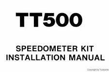 Yamaha TT500 Speedometer Kit Manual XT TT 500 QLIT1