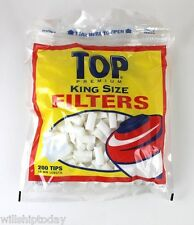 600 TOP King Size 18mm Filter Tips (3 pacsk of 200 cigarette cotton tips)