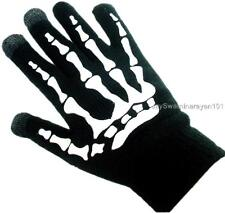 Magic Touch Screen Winter Skleton Gloves Palm Grip Dots Black Smartphone Texting