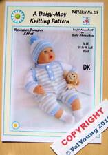 "1  DOLLS KNITTING PATTERN for Annabell or 18""-20"" doll  No.287 by Val Young"
