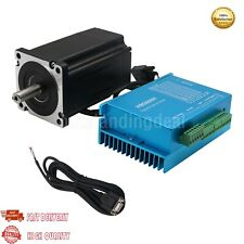 Nema 34 Closed Loop Stepper Motor Kit Hybrid Servo Driver HBS860H +Motor+Cable
