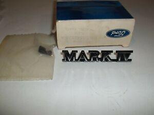 NOS OEM Ford 1972 1976 Lincoln Mark IV Emblem D2LY-6542528-AB