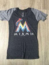 Miami Marlins Baseball V Neck Short Sleeve Girls Top shirt Size 7/8 M