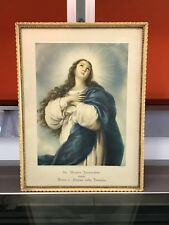 Quadro Stampa anni 40 Madonna La vergine Immacolata Arte Sacra