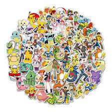 50 Pokemon Pikachu Stickers Pack Skateboard luggage Laptop Vinyl Decals Game DIY