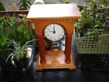 Schlabaugh & Sons wood pillar Pendulum swinging shelf table Mantle desk Clock