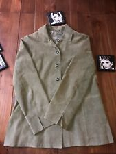 Valerie Separates Suede Women's Leather Jacket Blazer size Medium Olive Green