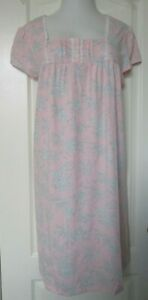 Croft and Barrow Pink Floral Print nightgown Cap Sleeves Size XXL