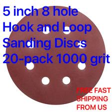 5 inch 8 hole Hook and Loop Sanding Discs 20-pack 1000 grit