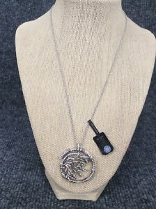 Beautiful ADI sterling silver  925 Bamboo Pendant necklace