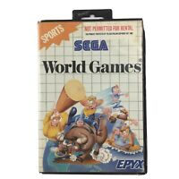 World Games Sega Master System Game In The Case Complete With Manual OZI SOFT