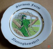 AJL Giftware Collectors Plate SHERWOOD FOREST NOTTINGHAMSHIRE Souvenir Plate