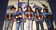 AC/DC Group Hand Signed 11x14 Autographed Photo Proof w/COA Angus Young