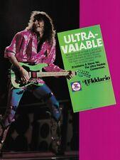 Steve Vai D'Addario Guitar Strings 1987 8x11 Promo Poster Ad