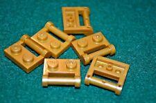 6 ~ Gold 1x2 Plate w/ Handle Brick ~ Bricks ~ New Lego Bricks ~