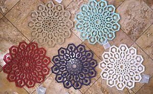 "NWT Kim Seybert Outdoor Indoor Microfiber Placemat Moroccan Mandala Chargers 15"""