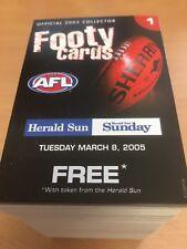 2005 Herald Sun FULL SET (192 Cards & 16 Check Lists)