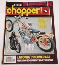 Street Chopper Magazine November 1979 Tattoos, Bikes, Women + MORE FREE SHIPPING