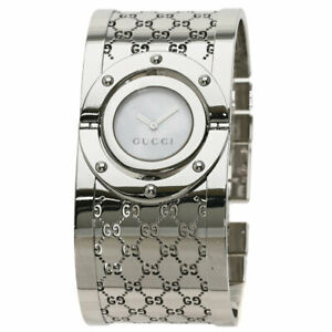 GUCCI Twirl bangle Watches YA112 Stainless Steel/Stainless Steel Ladies SALE1