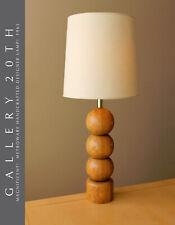 HYPER-RARE METROWARE CUSTOM WOOD SPHERE TABLE LAMP! 1965 VTG MID CENTURY LIGHT