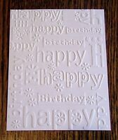 HAPPY BIRTHDAY Embossed Card Stock - Set of 12 Sheets - A2 CARD Size