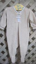 Luxe BABY DIOR Dove Gray Babygrow Pyjamas Velour FOOTSIE SLEEPER SLEEPSUIT 3 mo