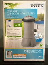Intex 28637EG 1000 GPH Krystal Clear Cartridge Pool Filter Pump (SHIPS ASAP)