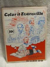 Vtg. Color It Evansville Historical Coloring Book For Boys & Girls Club IN Clean