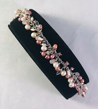 Sterling Silver LAURA GIBSON Breast Cancer Bracelet for BAILEY BANKS & BIDDLE 2